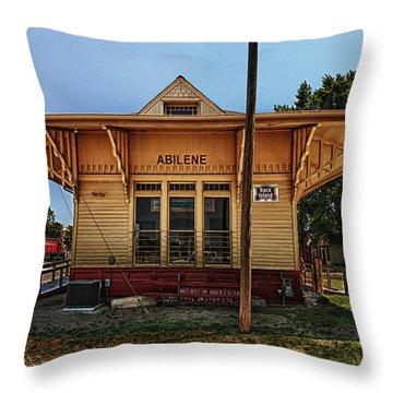 Abilene Station Throw Pillow