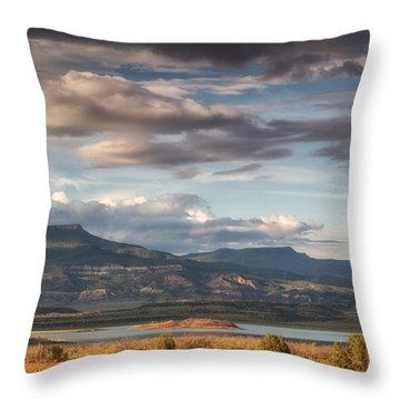 Abiquiu New Mexico Pico Pedernal In The Morning Throw Pillow