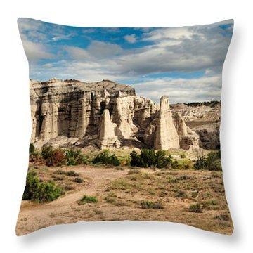 Abiquiu New Mexico Plaza Blanca In Technicolor Throw Pillow