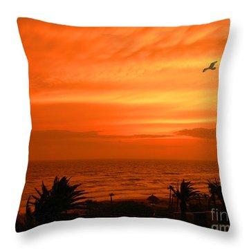 Ablaze Throw Pillow by Mariarosa Rockefeller