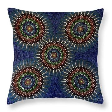 Aboriginal Inspirations 16 Throw Pillow by Mariusz Czajkowski
