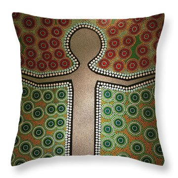 Throw Pillow featuring the photograph Aboriginal Inspirations 21 by Mariusz Czajkowski