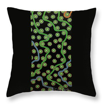 Throw Pillow featuring the photograph Aboriginal Inspirations 23 by Mariusz Czajkowski