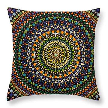 Aboriginal Inspirations 28 Throw Pillow by Mariusz Czajkowski