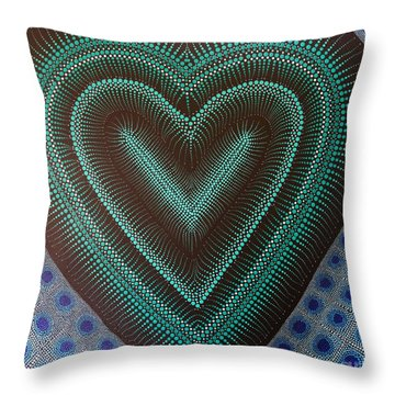 Throw Pillow featuring the painting Aboriginal Inspirations 5 by Mariusz Czajkowski