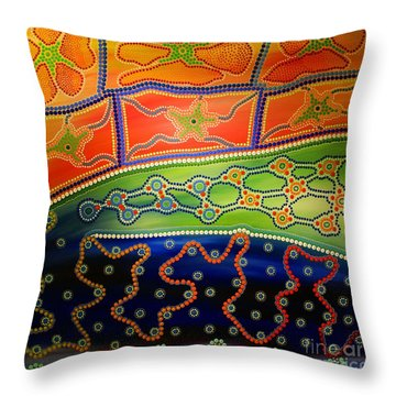 Original Sold Aboriginal Inspirations 7 Throw Pillow