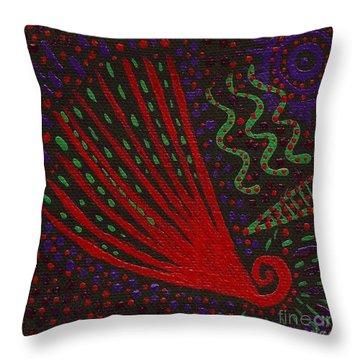 Aboriginal Vibes Throw Pillow by Vicki Maheu