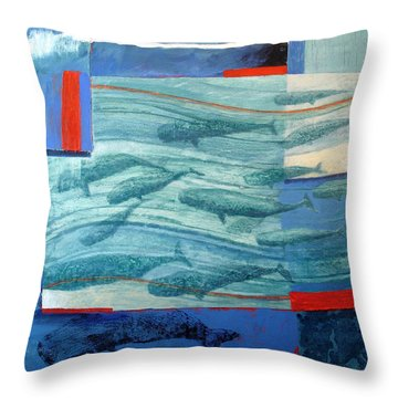 About 120 Western Grey Whales Wc On Paper Throw Pillow