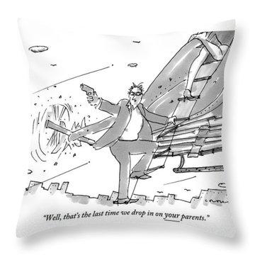 Above A City Throw Pillow