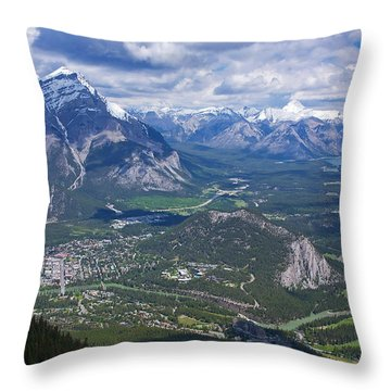 Above Banff Throw Pillow by Stuart Litoff