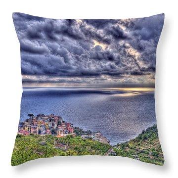 Above Corniglia Throw Pillow