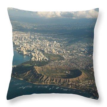 Throw Pillow featuring the photograph Above Hawaii by Georgia Mizuleva