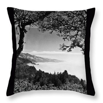 Above Nepenthe In Big Sur Throw Pillow