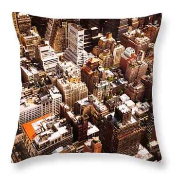 Above New York City Throw Pillow by Vivienne Gucwa