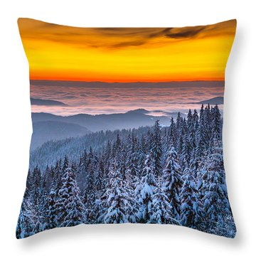 Above Ocean Of Clouds Throw Pillow by Evgeni Dinev