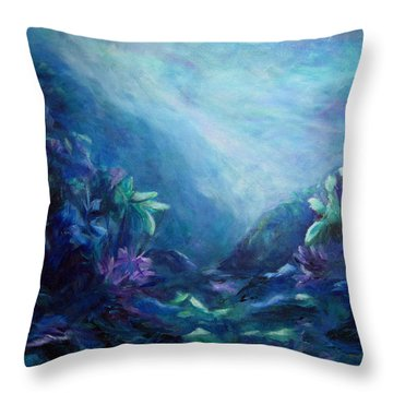 Above Or Below Throw Pillow