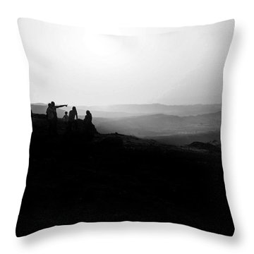 Above Pune, India Throw Pillow