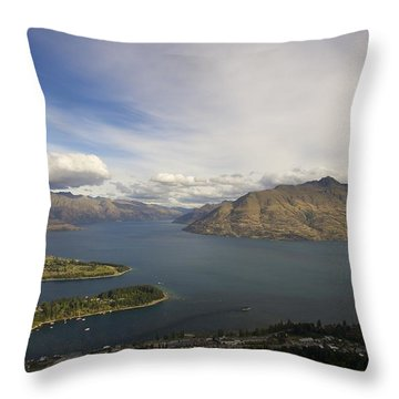 Above Queenstown #2 Throw Pillow by Stuart Litoff