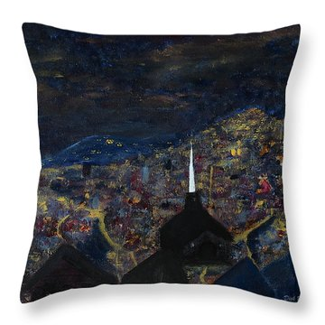 Above The City At Night Throw Pillow