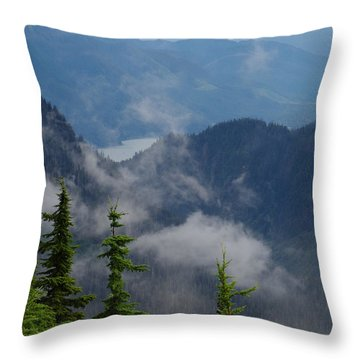 Above The Cloud Throw Pillow