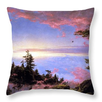 Above The Clouds At Sunrise By Frederick Edwin Church Throw Pillow