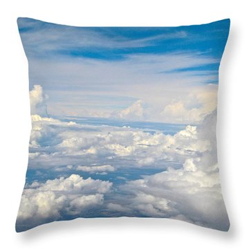 Above The Clouds Over Texas Image B Throw Pillow