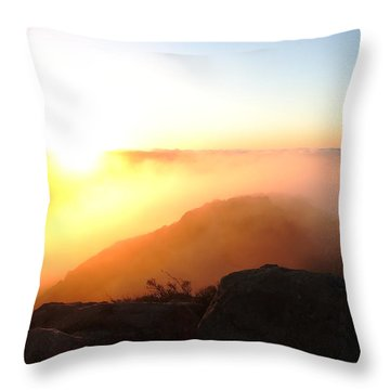 Above The Clouds Throw Pillow by Paul Foutz