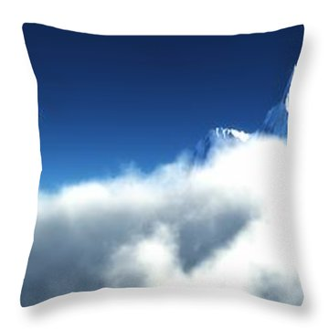 Throw Pillow featuring the digital art Above The Clouds... by Tim Fillingim