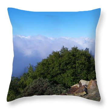 Above The Clouds Throw Pillow by Tom Mansfield