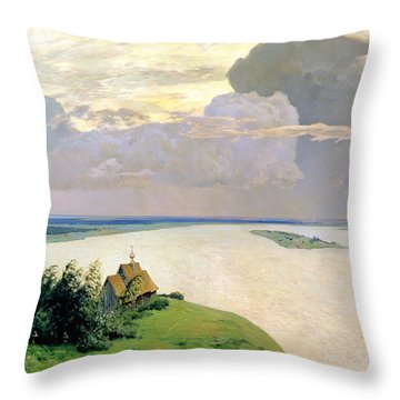Above The Eternal Peace Throw Pillow by Isaak Ilyich Levitan