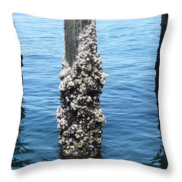 Above The Line Throw Pillow