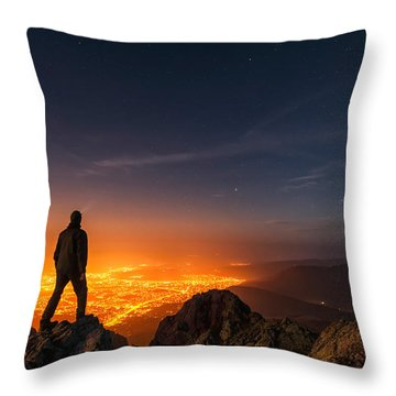 Above The Night Throw Pillow by Evgeni Dinev