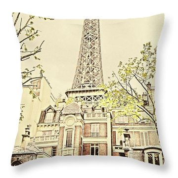 Above The Rooftops Throw Pillow
