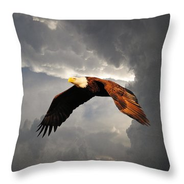 Above The Storm Throw Pillow