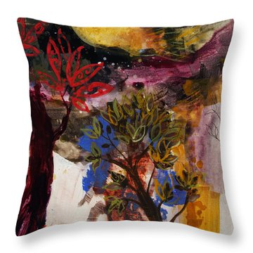 Above The Tree Tops Throw Pillow by Robin Maria Pedrero