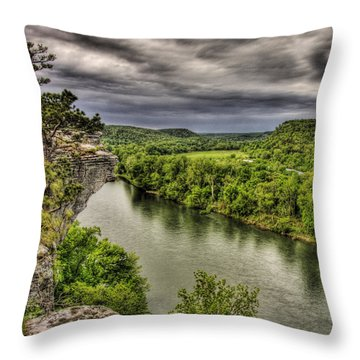 Above The White Throw Pillow by William Fields