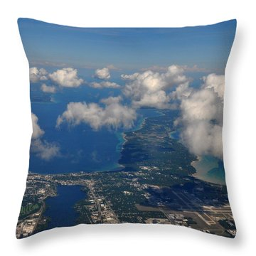 Above Traverse City Throw Pillow by Diane Lent