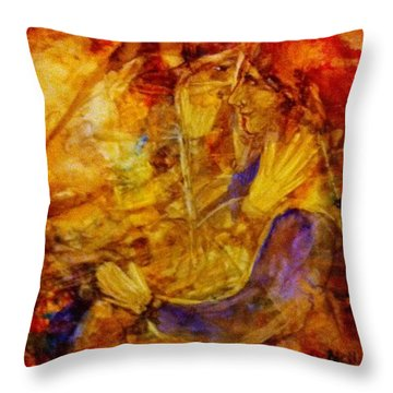 Abraham And Sarah Throw Pillow