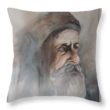 Abraham Throw Pillow by Annemeet Hasidi- van der Leij