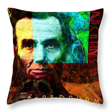 Abraham Corporation Steampunk Machines Patent Pending 20140207v1 Vertical Throw Pillow
