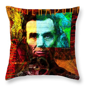 Abraham Corporation Steampunk Machines Patent Pending 20140207v1 Throw Pillow