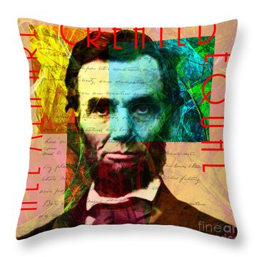 Abraham Lincoln All Men Are Created Equal 2014020502 Throw Pillow