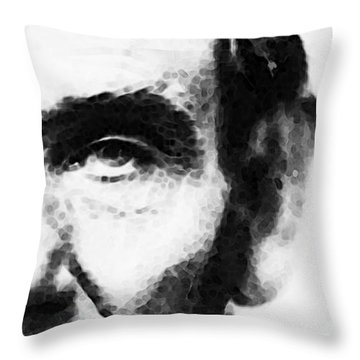 Abraham Lincoln - An American President Throw Pillow by Sharon Cummings