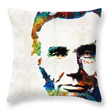 Abraham Lincoln Art - Colorful Abe - By Sharon Cummings Throw Pillow by Sharon Cummings