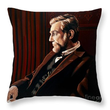 Abraham Lincoln By Daniel Day-lewis Throw Pillow