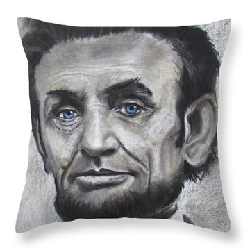 Throw Pillow featuring the drawing Abraham Lincoln by Eric Dee
