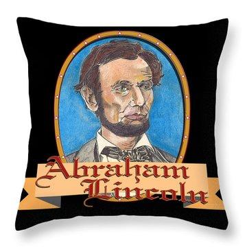 Abraham Lincoln Graphic Throw Pillow by John Keaton