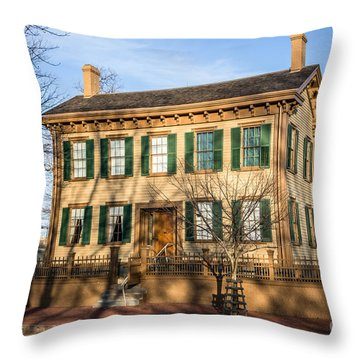 Abraham Lincoln Home In Springfield Illinois Throw Pillow by Paul Velgos