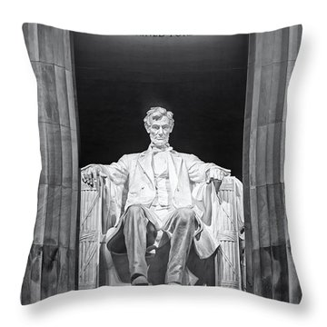 Abraham Lincoln Memorial Throw Pillow