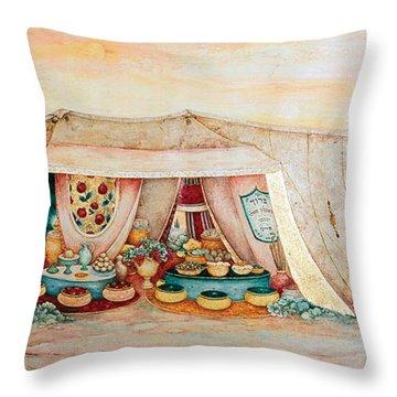 Abraham's Tent Throw Pillow by Michoel Muchnik